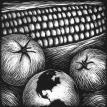 Neil Brigham, corn and tomatoes